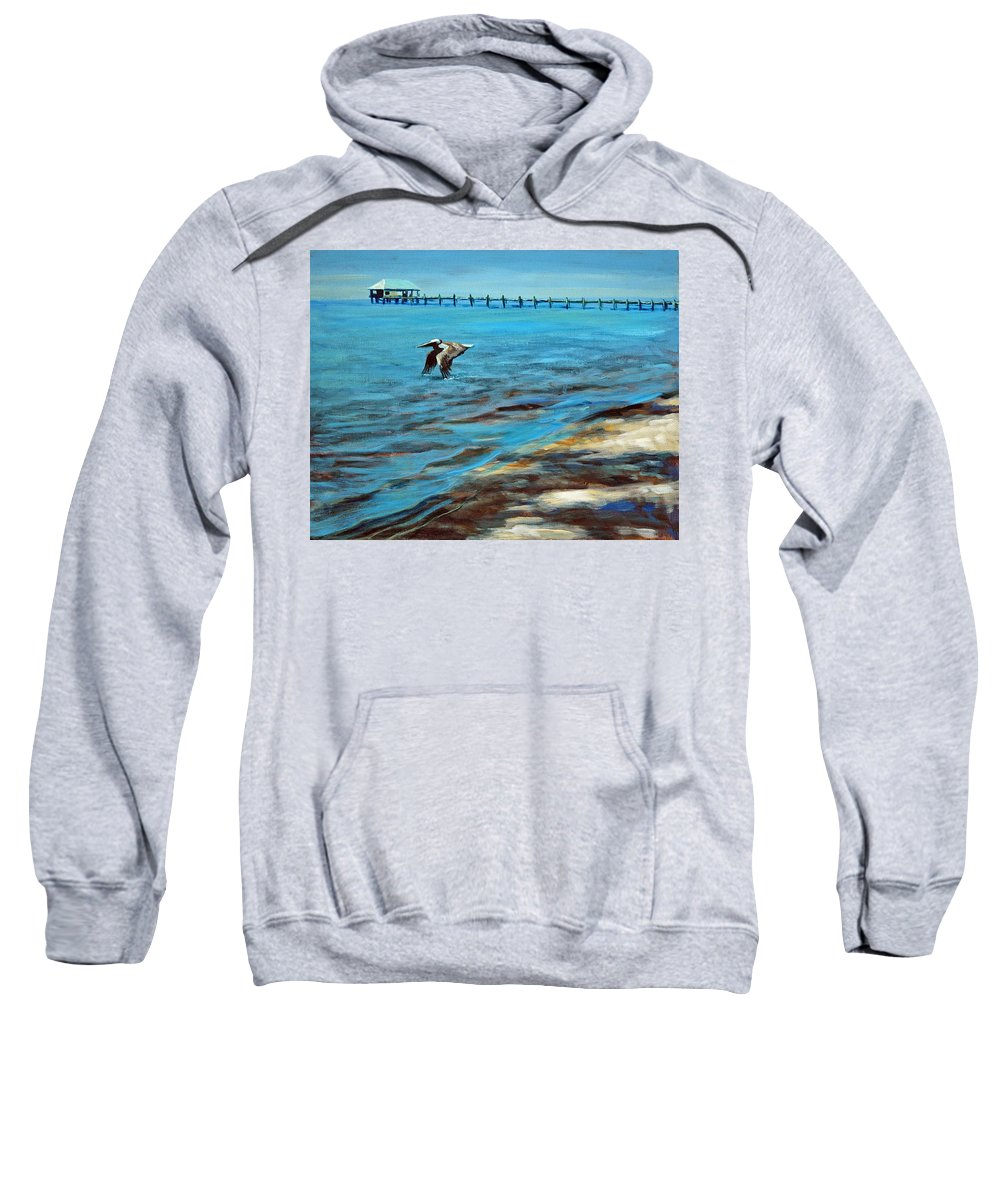Acrylic Sweatshirt featuring the painting Just Passing By by Suzanne McKee