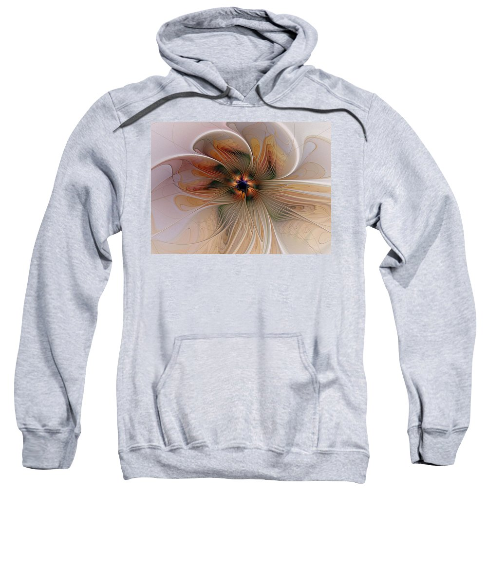 Digital Art Sweatshirt featuring the digital art Just Peachy by Amanda Moore