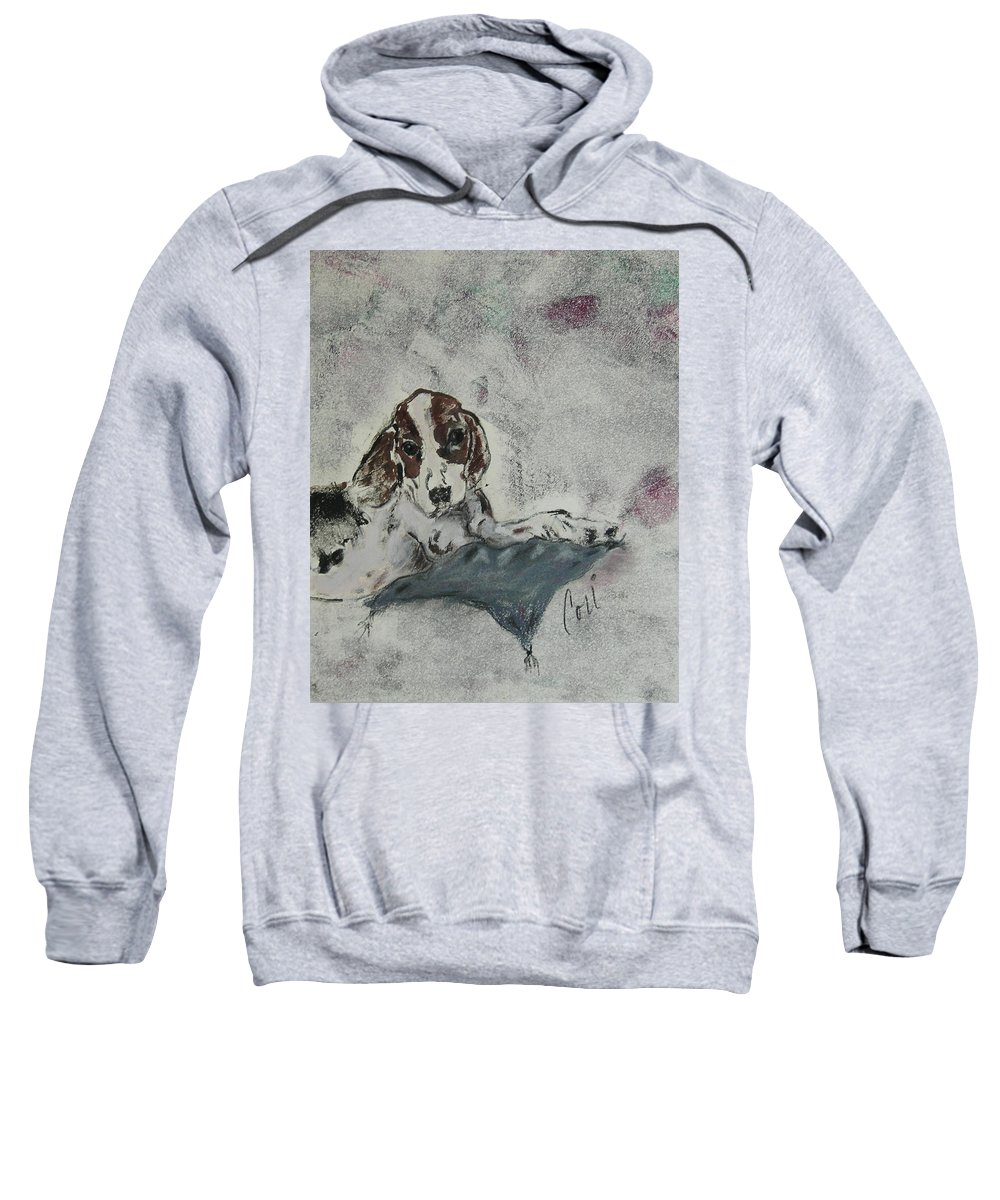Beagle Sweatshirt featuring the mixed media Just Perfect by Cori Solomon
