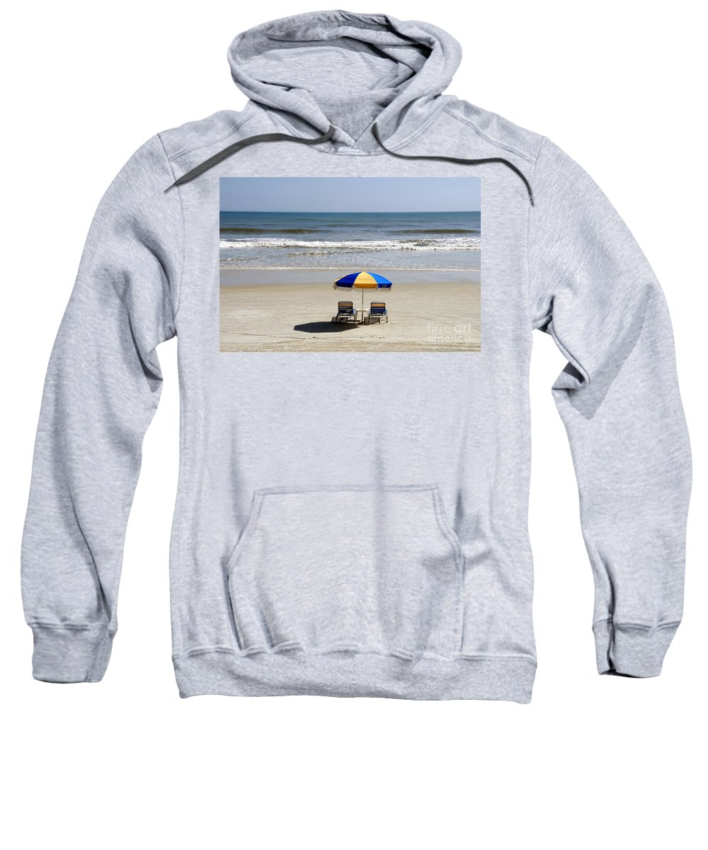 Beach Sweatshirt featuring the photograph Just The Two Of Us by David Lee Thompson
