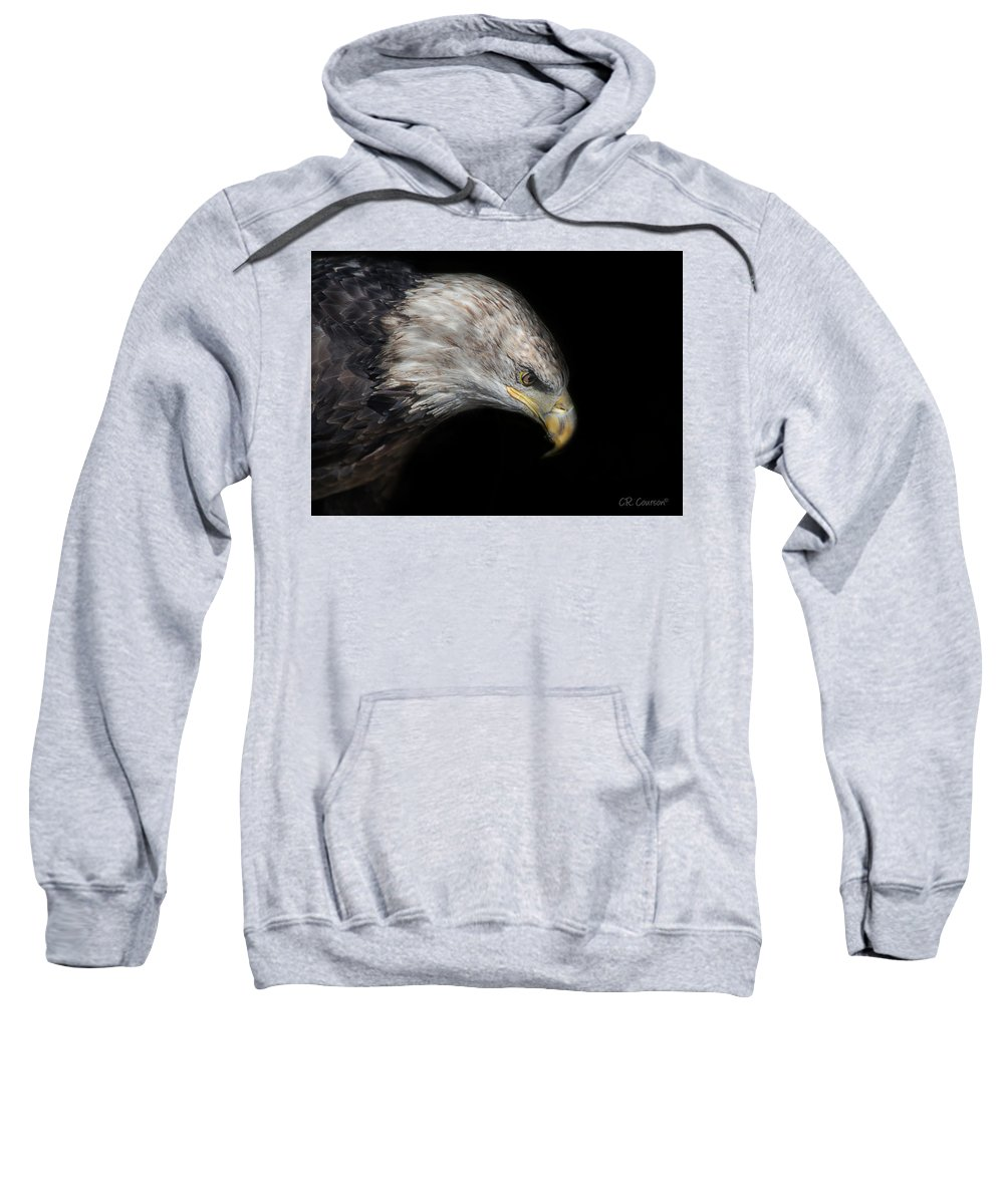 Accipitridae Sweatshirt featuring the photograph Juvenile Bald Eagle Portrait by CR Courson