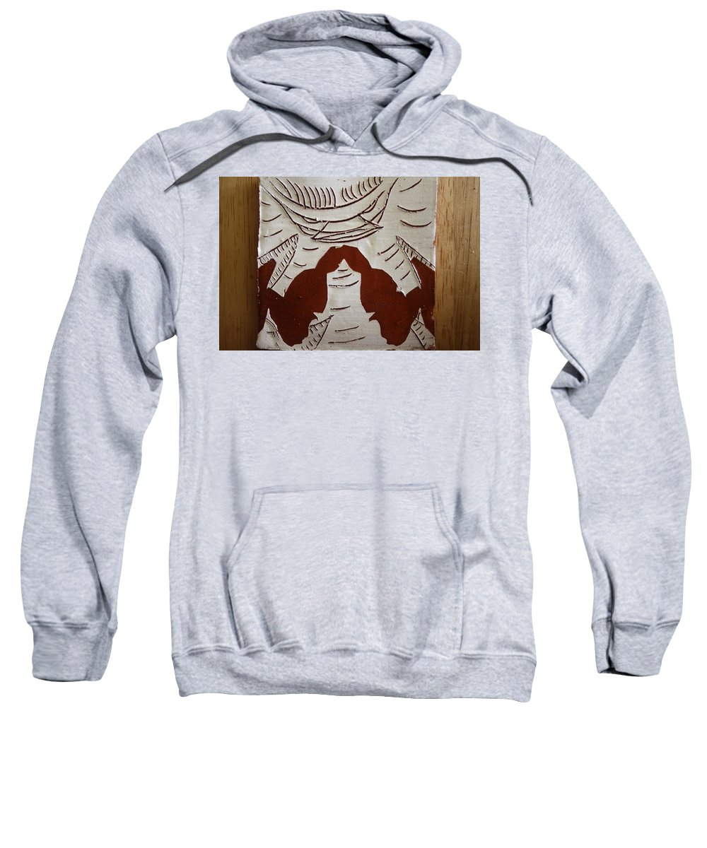 Jesus Sweatshirt featuring the ceramic art Kabaka Atuuse- The King Has Arrived - Tile by Gloria Ssali