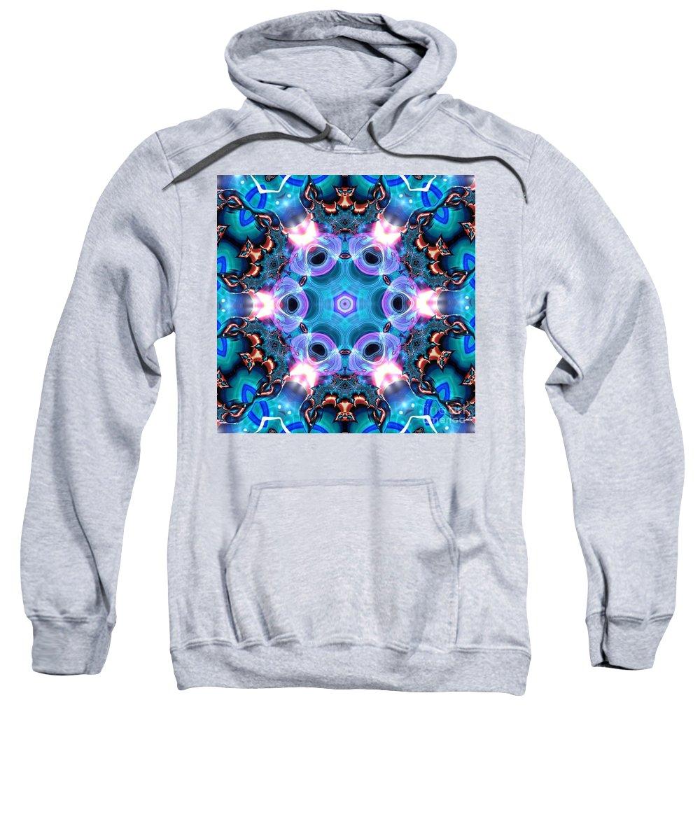 Art Sweatshirt featuring the digital art Kaleidoscope 1 by JD Poplin