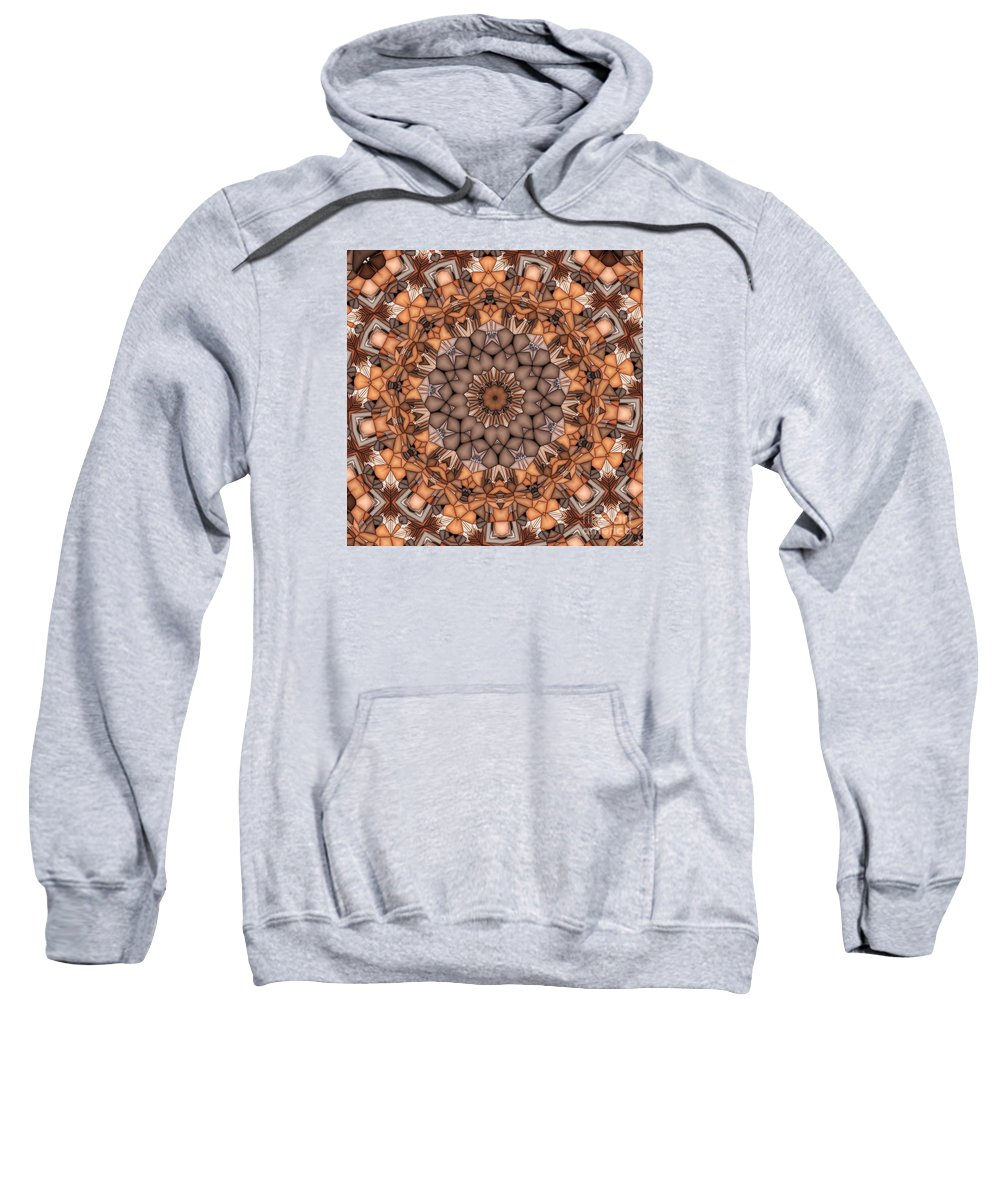 Kaleidoscope Sweatshirt featuring the digital art Kaleidoscope 121 by Ron Bissett