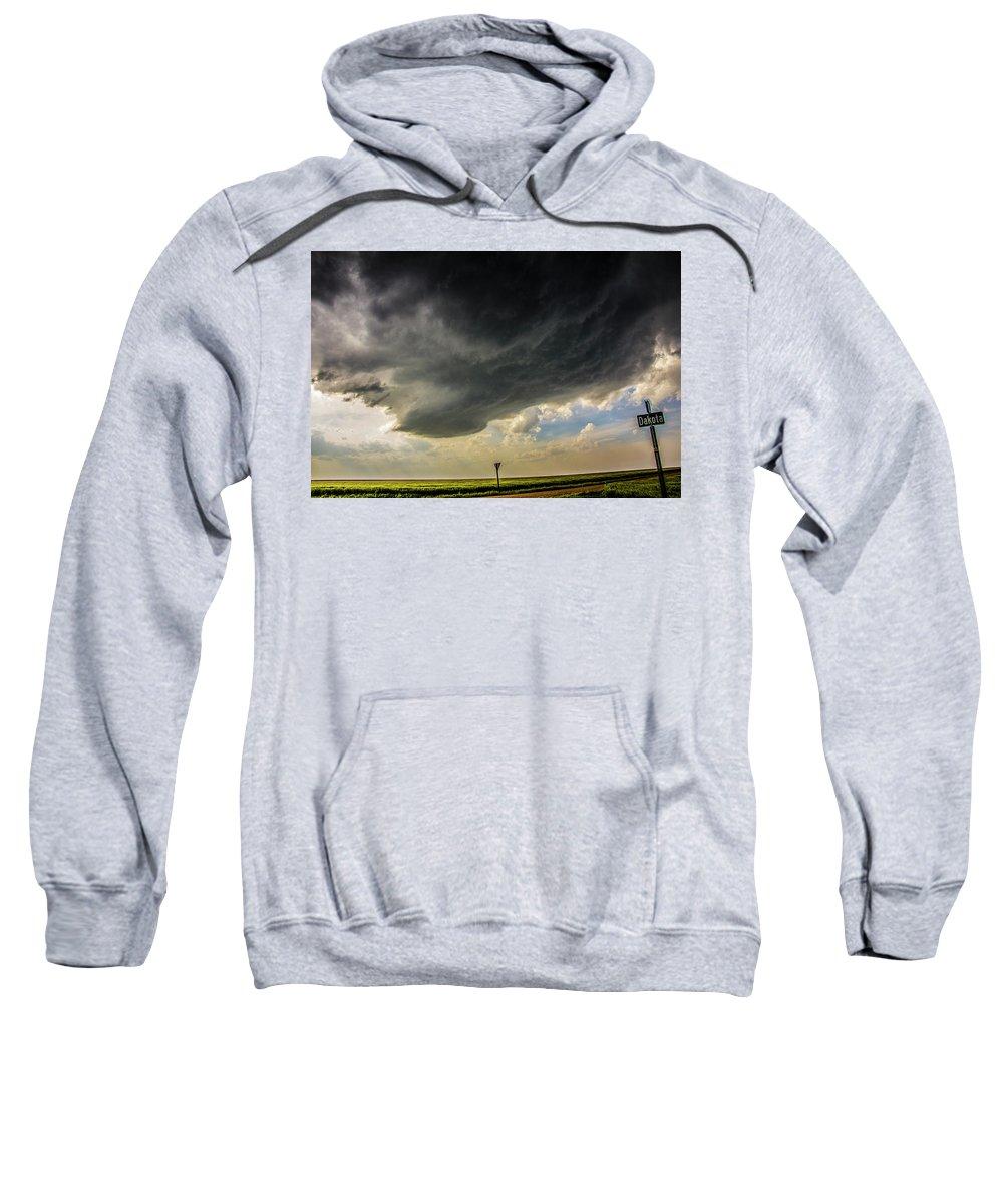 Nebraskasc Sweatshirt featuring the photograph Kansas Storm Chasing 008 by NebraskaSC