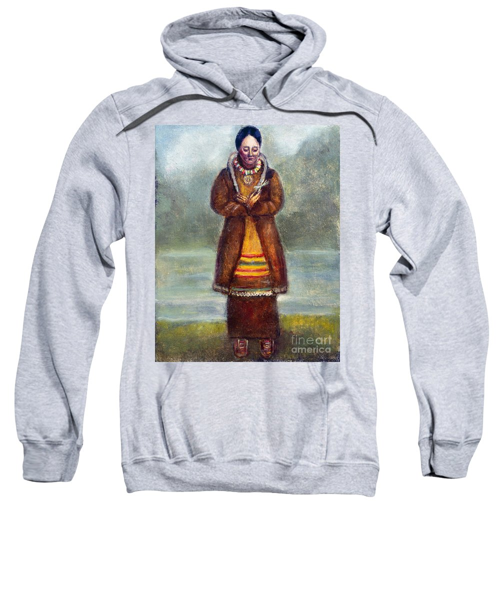 1681 Sweatshirt featuring the photograph Kateri Tekakwitha by Granger