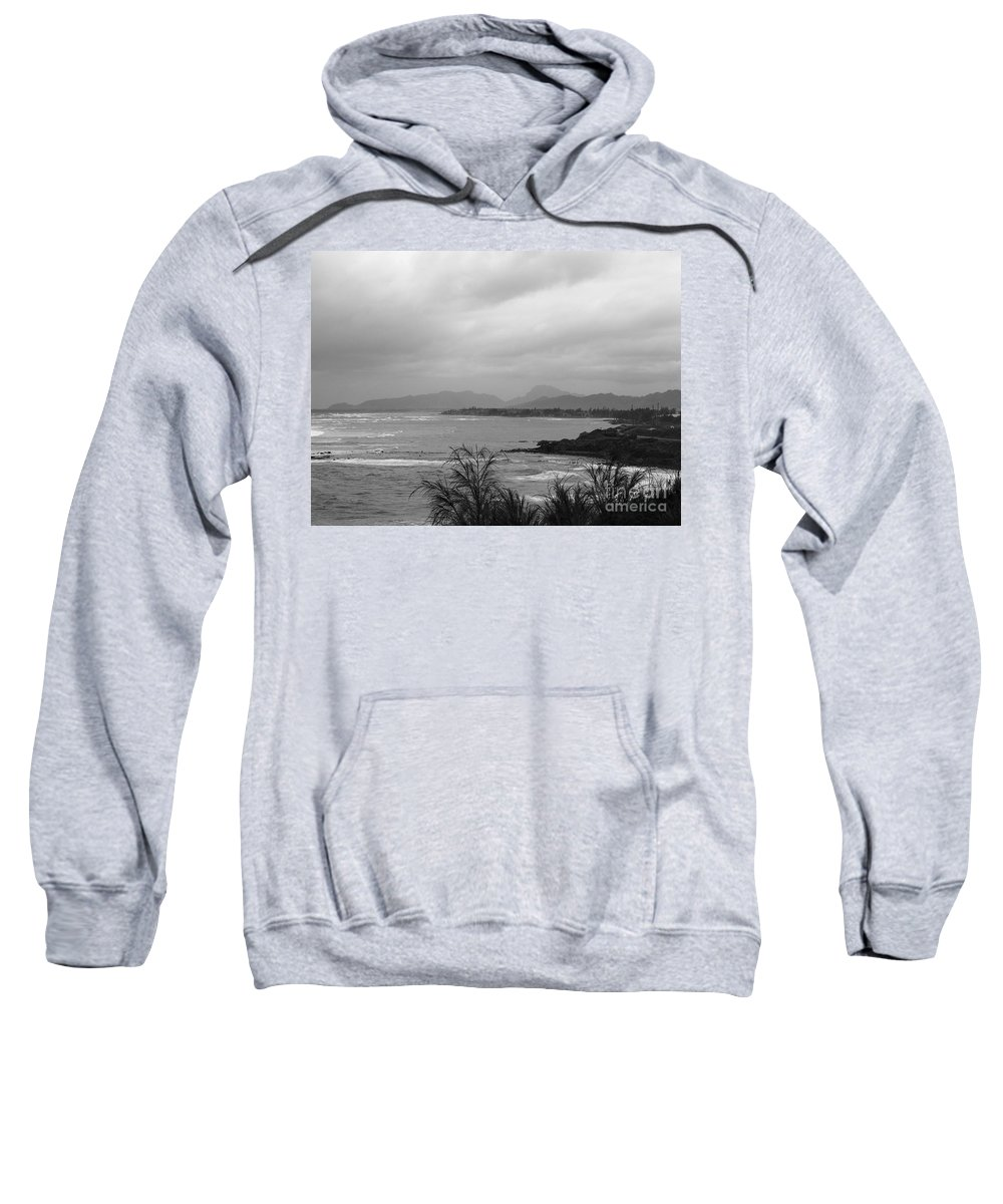 Black And White Sweatshirt featuring the photograph Kauai Coconut Coast by Mary Deal