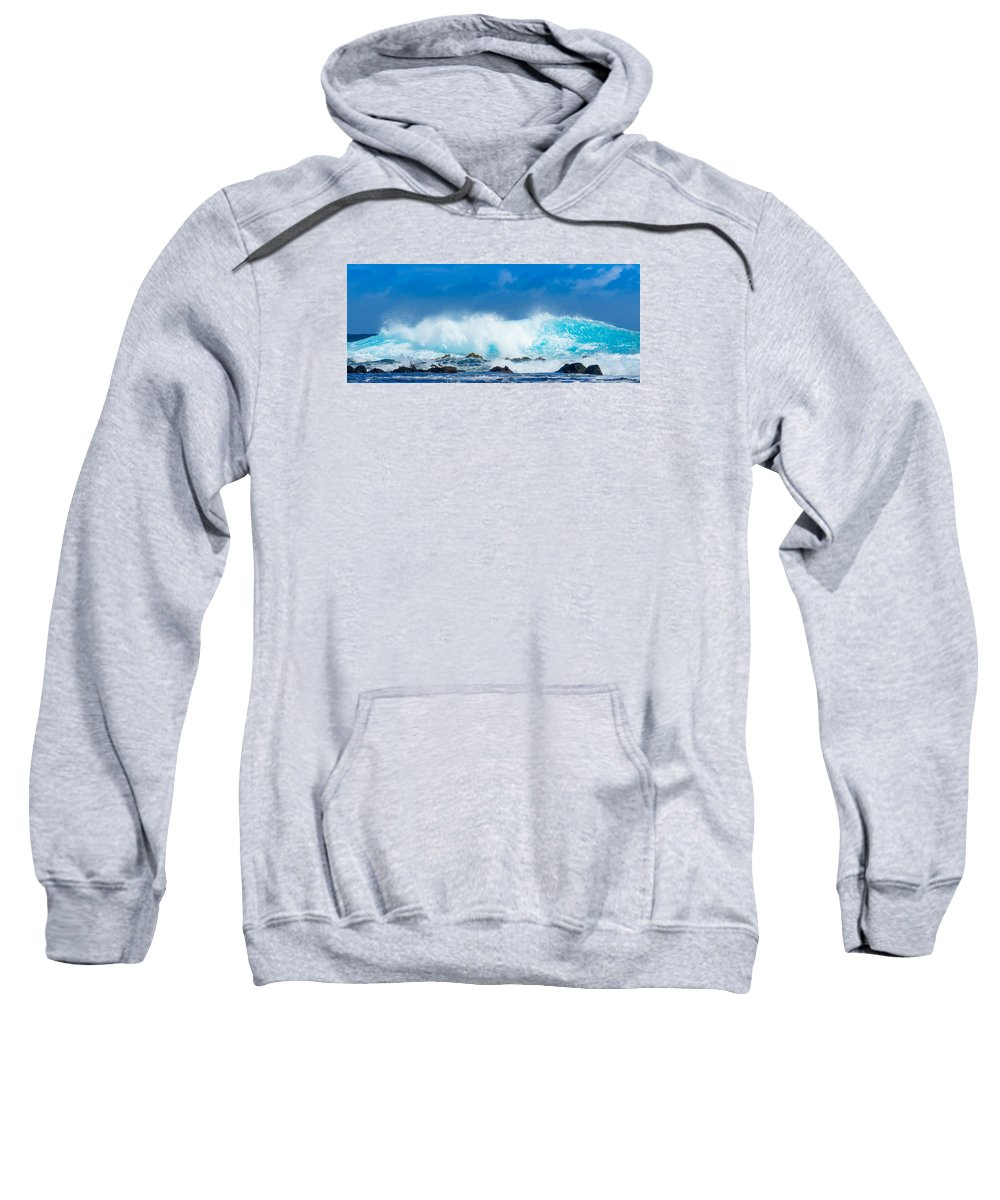 Kauai Sweatshirt featuring the photograph Kauai Waves by Lance Raab