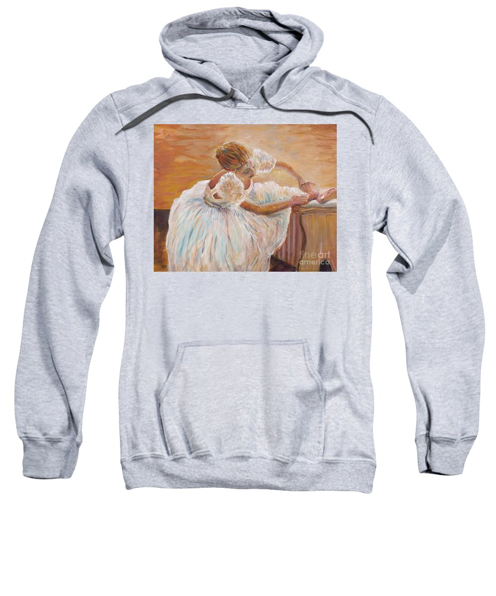 Dancer Sweatshirt featuring the painting Kaylea by Nadine Rippelmeyer