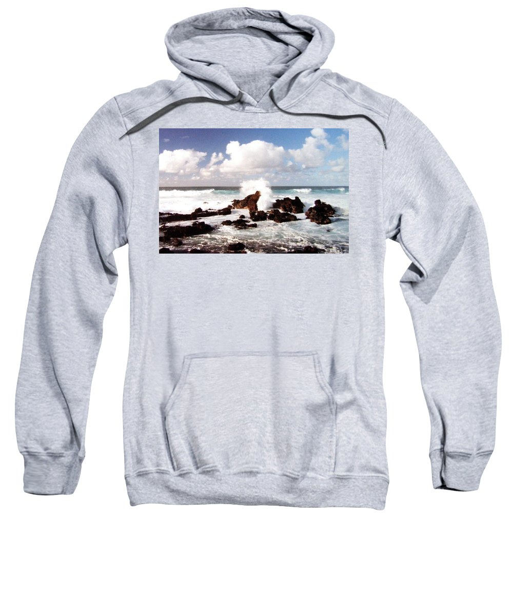 1986 Sweatshirt featuring the photograph Keanae Peninsula by Will Borden