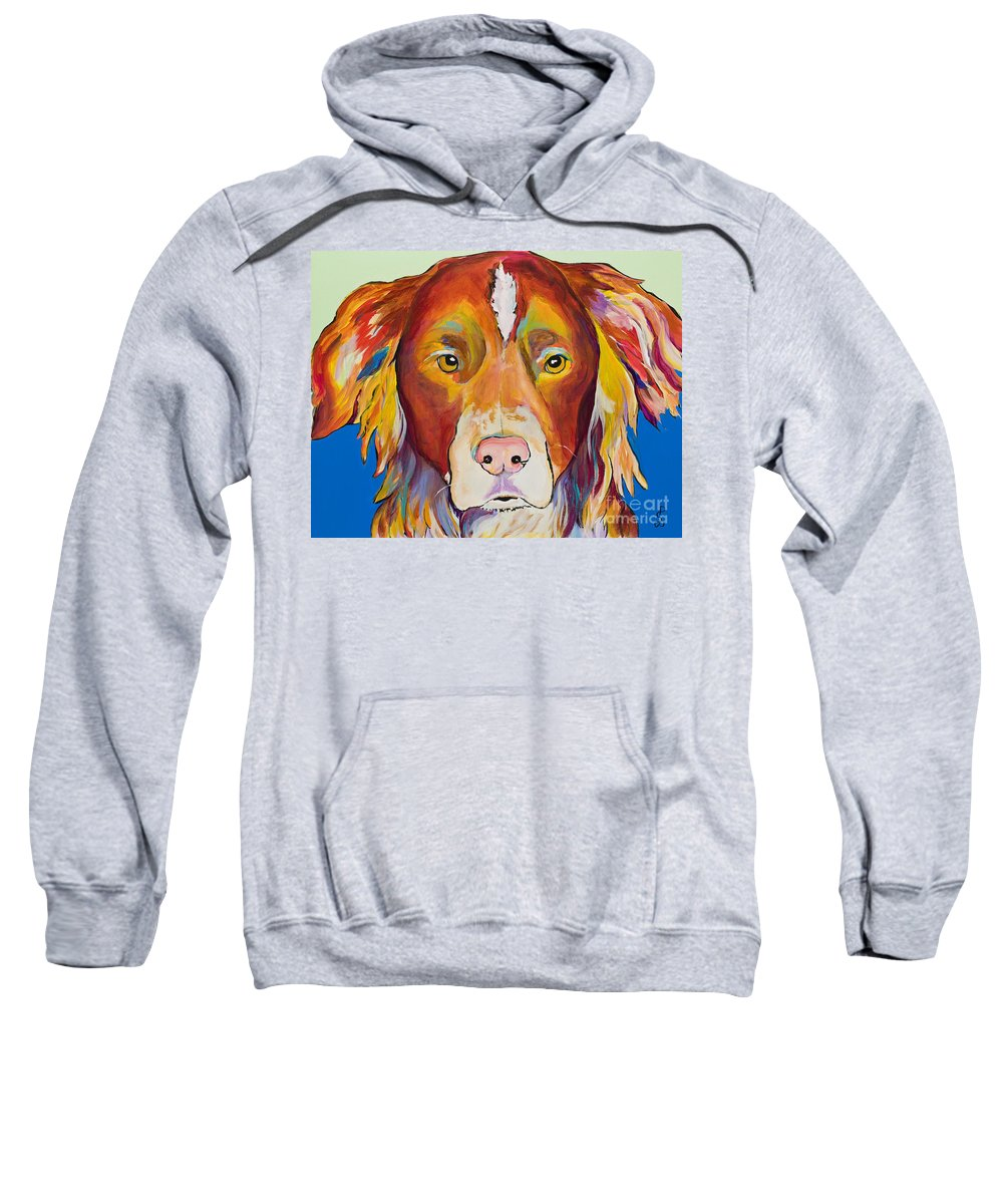 Australian Border Collie Sweatshirt featuring the painting Keef by Pat Saunders-White