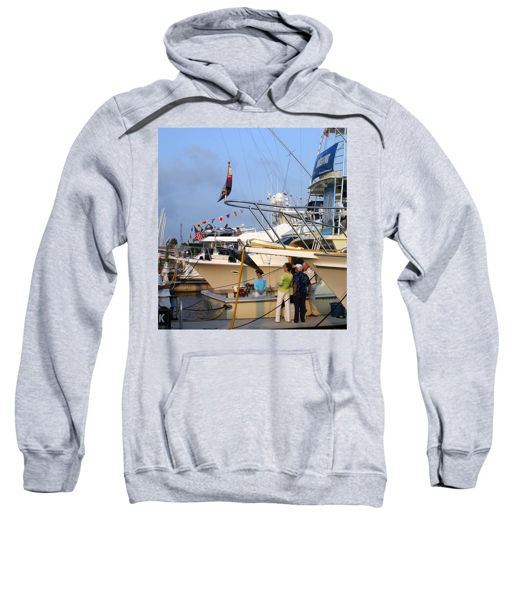 Yacht Portraits Sweatshirt featuring the photograph Keels And Wheels Yachta Yachta Yachta Yachta by Jack Pumphrey