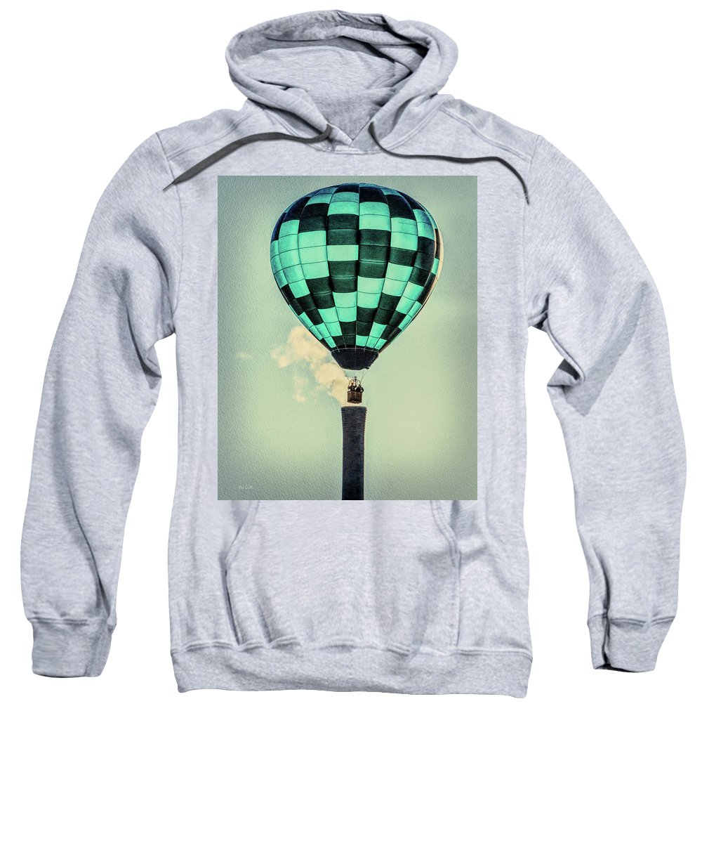 Bates Mill Sweatshirt featuring the photograph Keeping Warm As You Float by Bob Orsillo