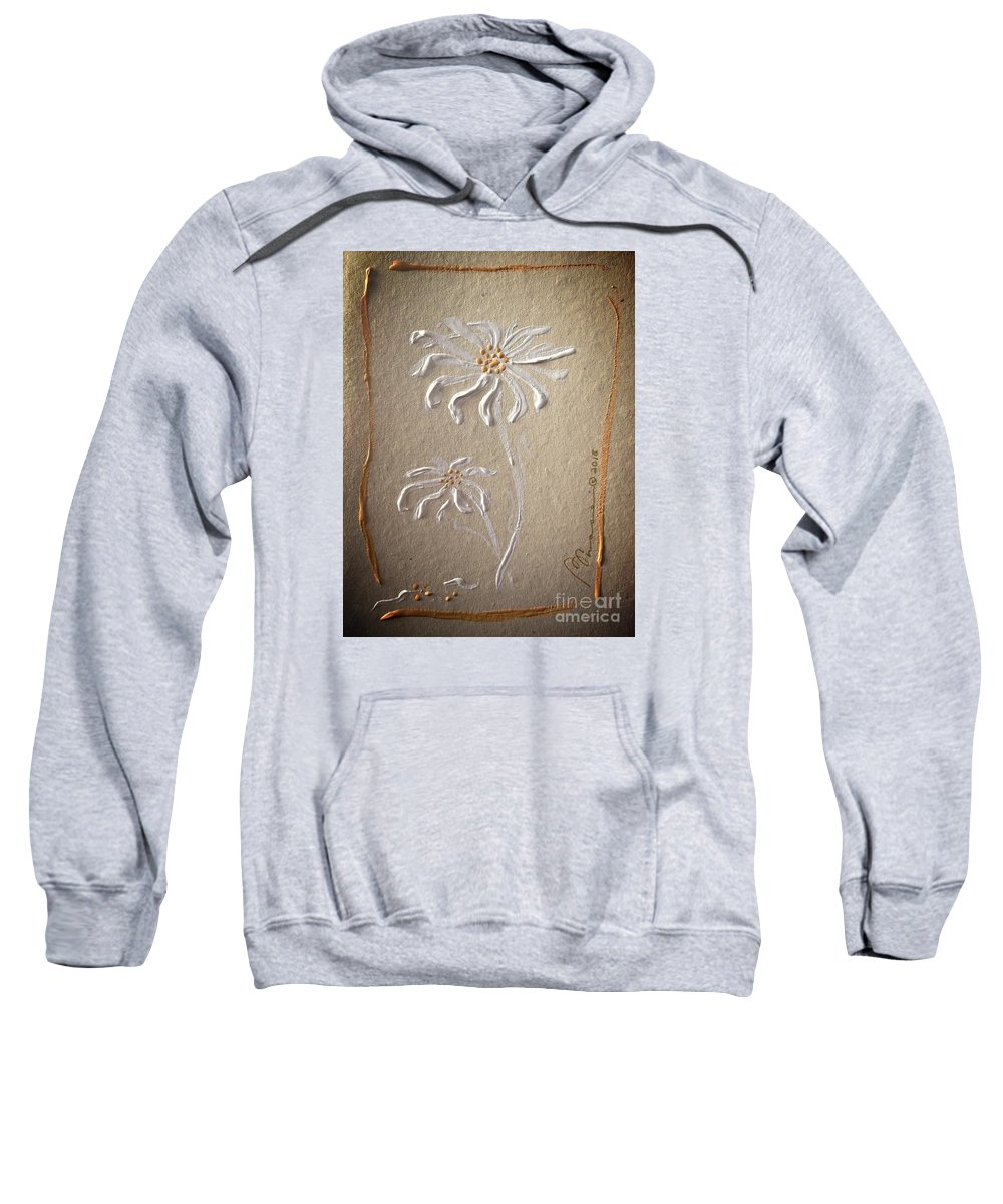 Wilting Sweatshirt featuring the painting Keepsake by Barbara Chase