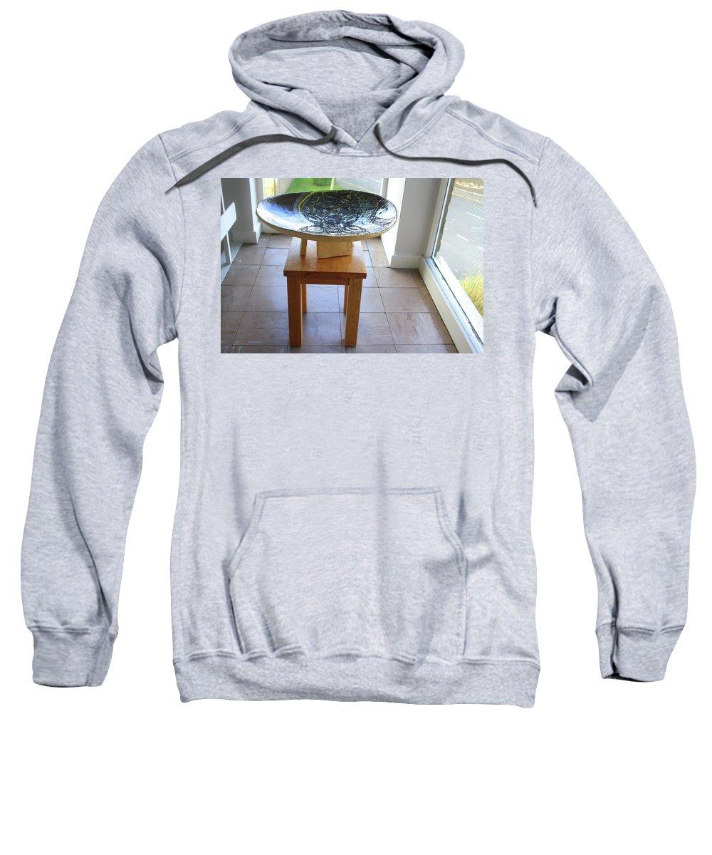 Mama Africa Twojesus Sweatshirt featuring the ceramic art Keepsake View One by Gloria Ssali