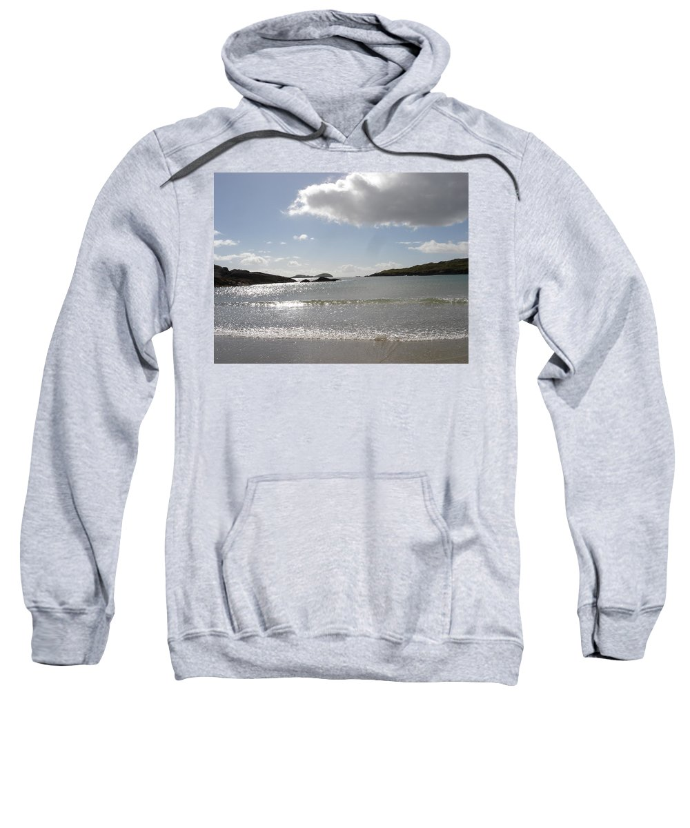 Sweatshirt featuring the photograph Kerry Beach by Kelly Mezzapelle