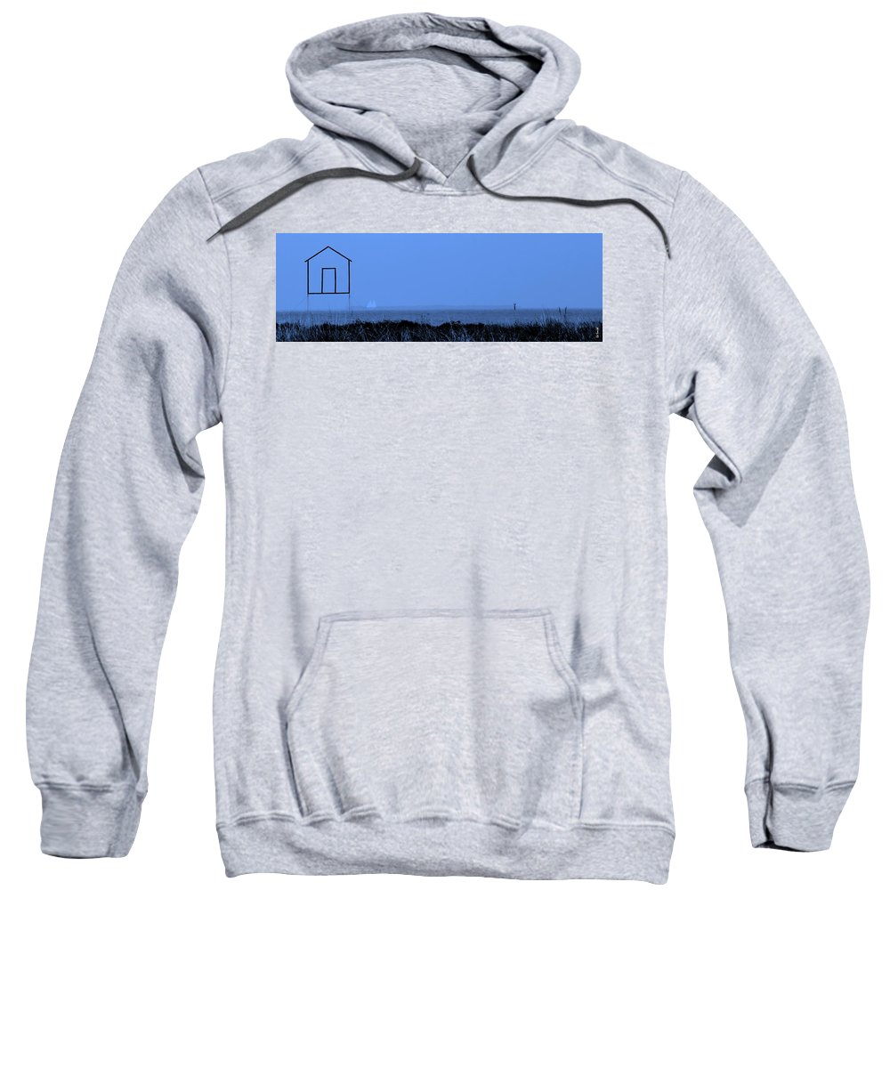 Key West House Boat Sweatshirt featuring the photograph Key West House Boat by Ed Smith