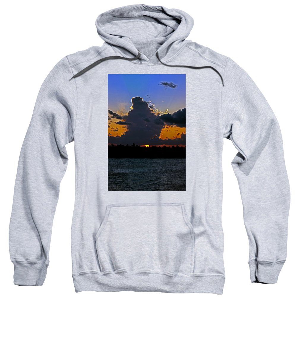 Key West Sweatshirt featuring the photograph Key West Sunset Glory by Maria Keady