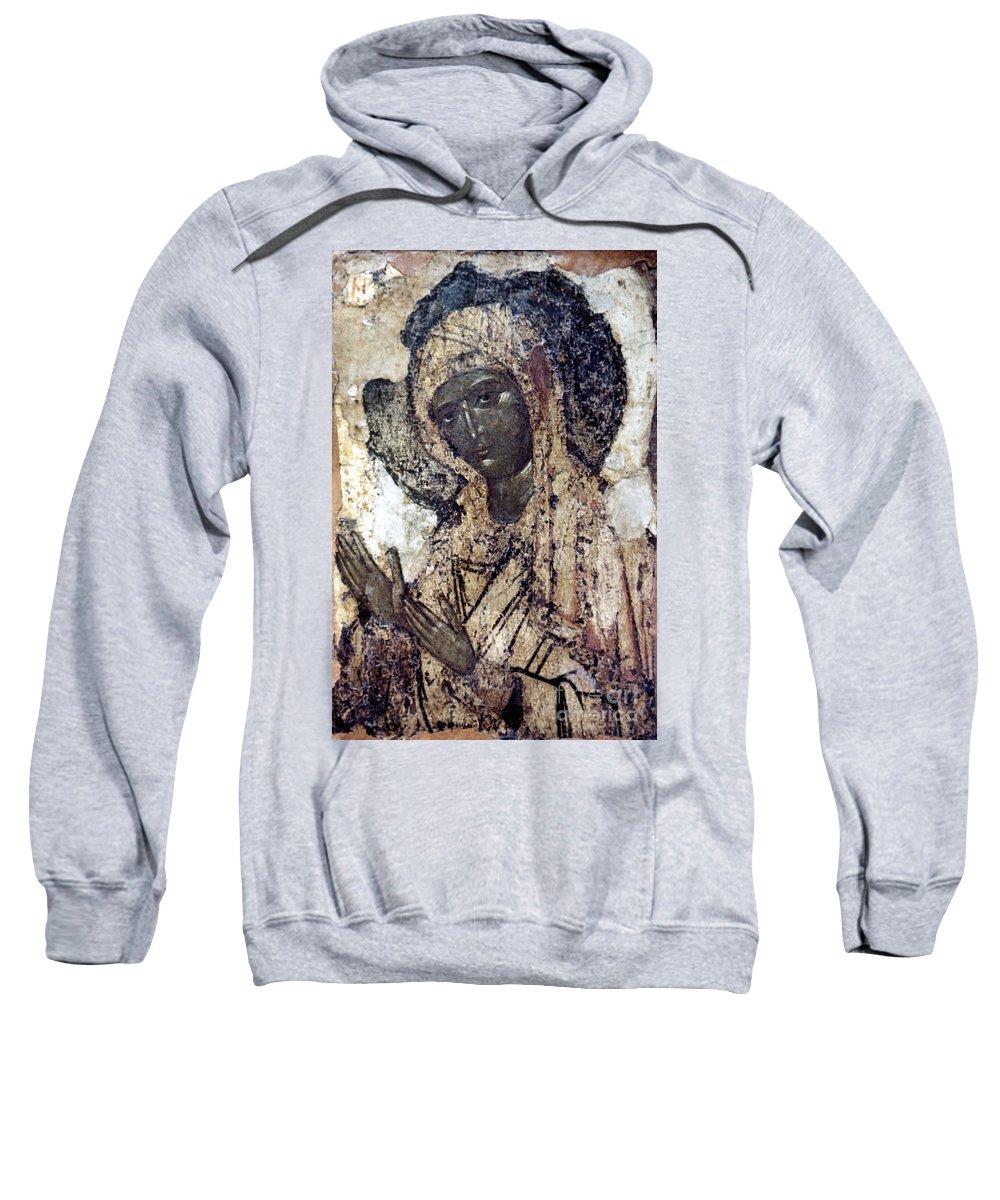 14th Century Sweatshirt featuring the photograph Khalkopratiyskaya Virgin by Granger