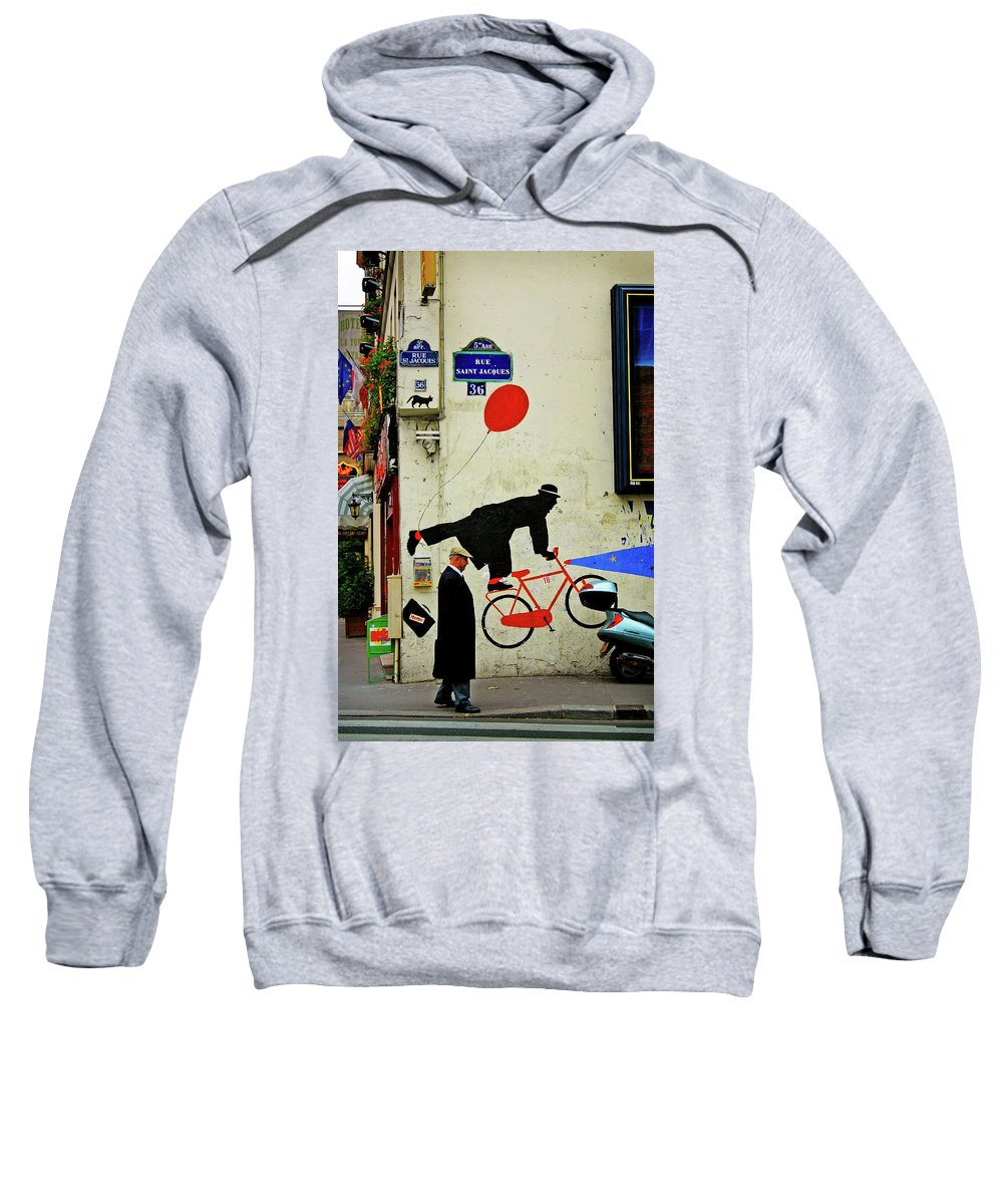 Paris Sweatshirt featuring the photograph Kick In The Head by Skip Hunt