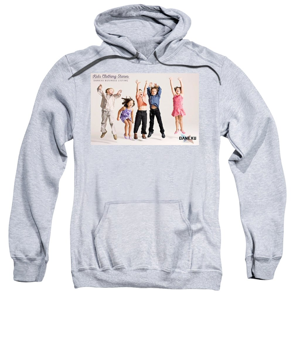 Sweatshirt featuring the photograph Kids Clothing Stores by Danexu