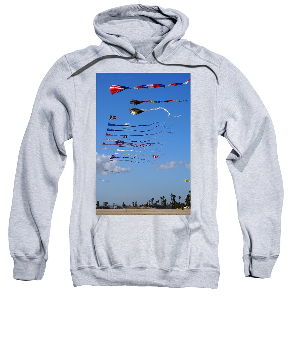 Clay Sweatshirt featuring the photograph Kite Season by Clayton Bruster