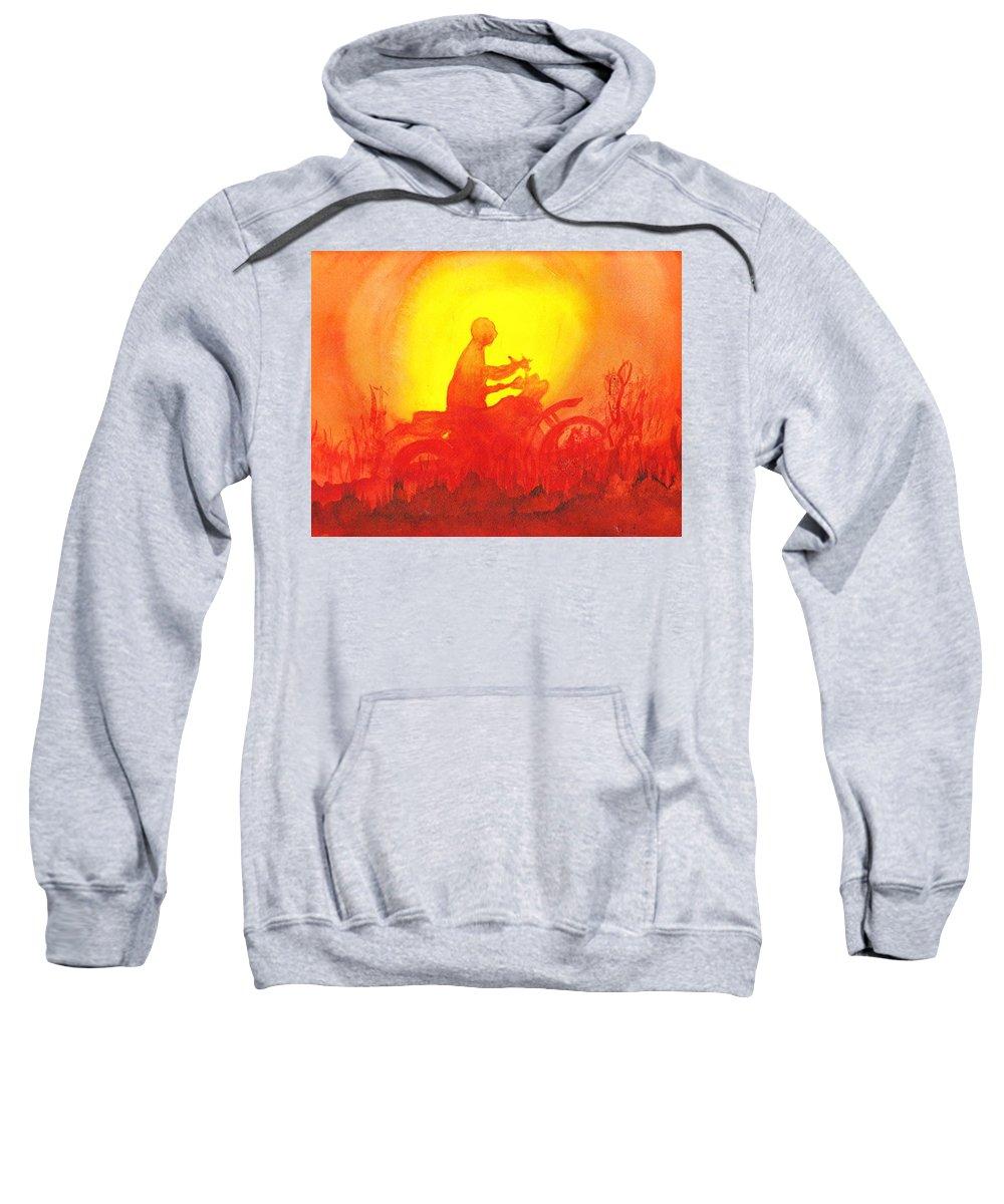 Koala Lumpur Sunset Sweatshirt featuring the painting Koala Lumpur Sunset by Donna Walsh