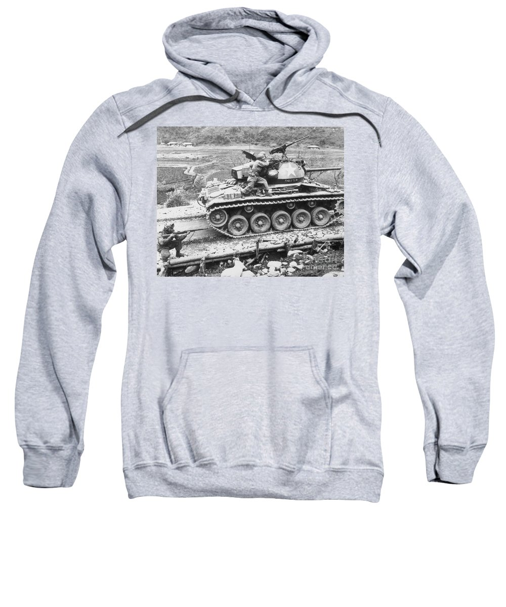 1951 Sweatshirt featuring the photograph Korean War, 1951 by Granger