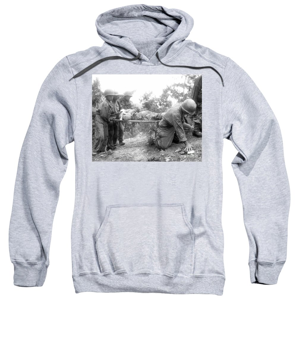 1952 Sweatshirt featuring the photograph Korean War, 1952 by Granger