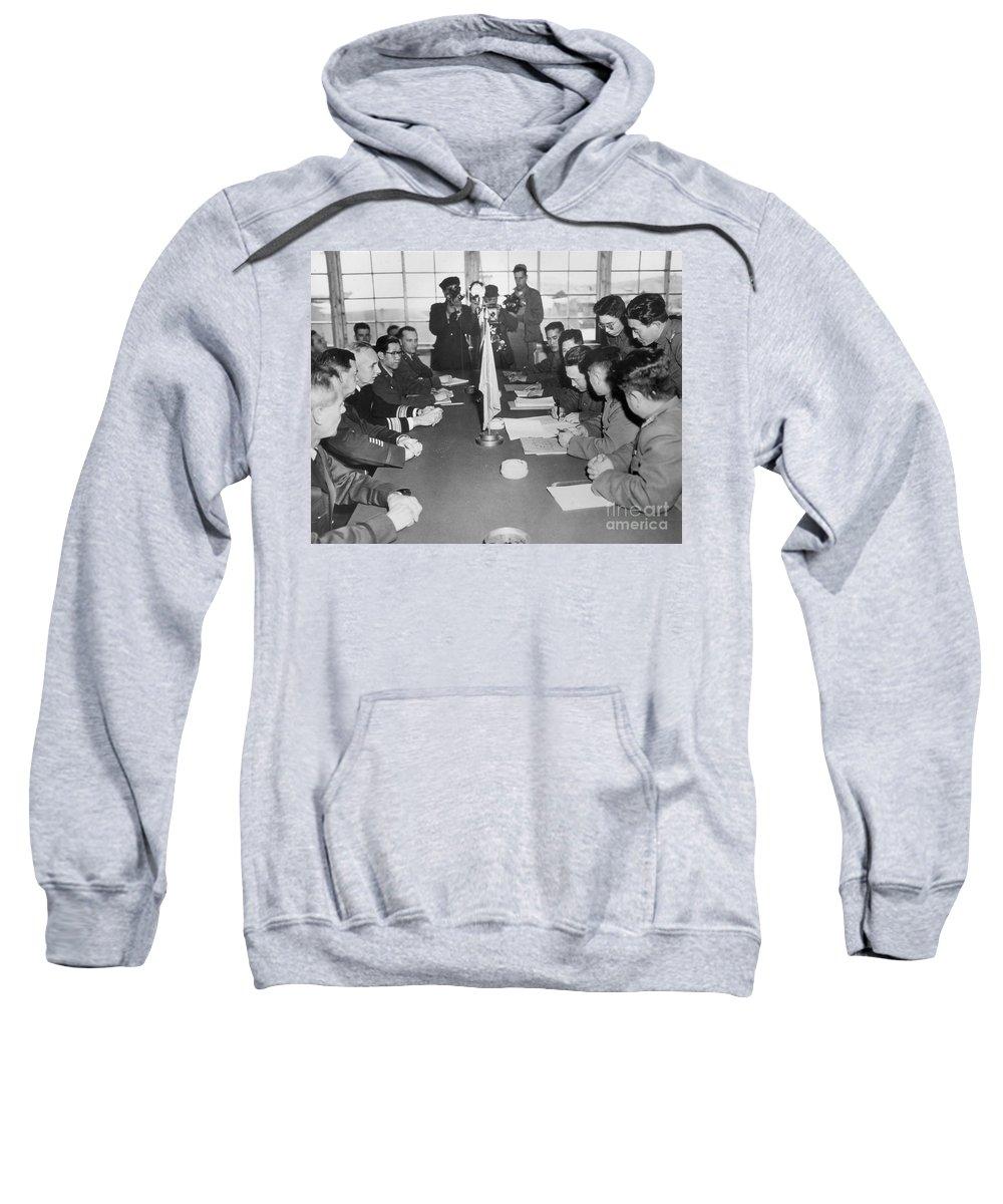 1953 Sweatshirt featuring the photograph Korean War, 1953 by Granger