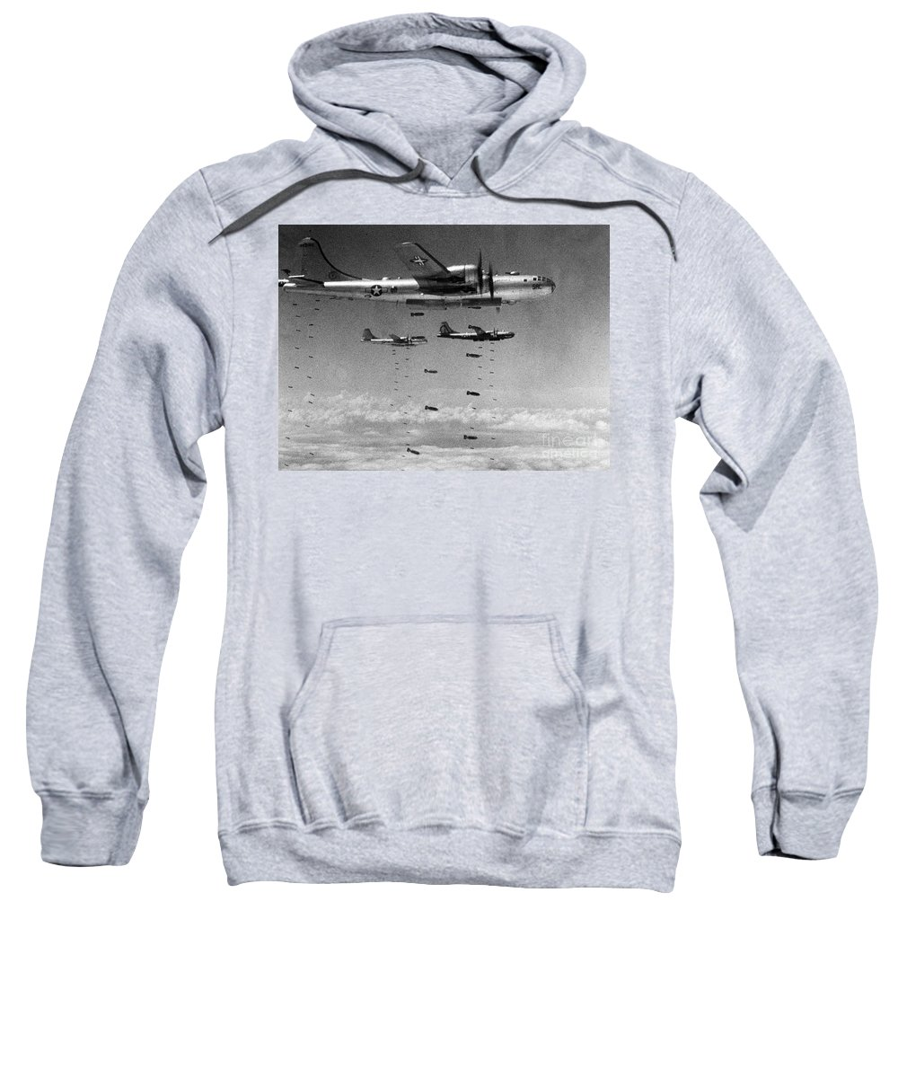 1951 Sweatshirt featuring the photograph Korean War: B-29 Bombers by Granger