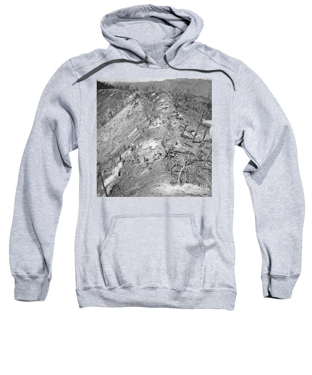 1951 Sweatshirt featuring the photograph Korean War: Bloody Ridge by Granger