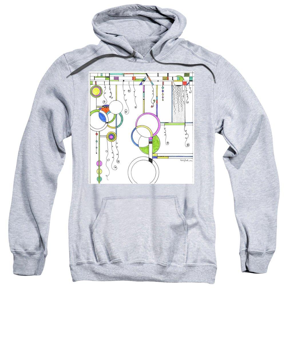 Sweatshirt featuring the drawing Kp Spirals by Kelly Pratt