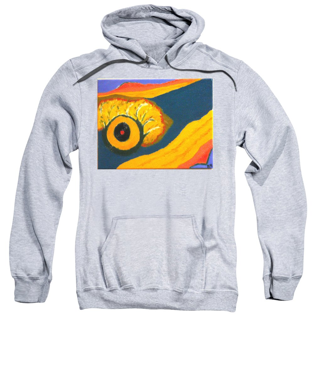 Sweatshirt featuring the painting Krshna by R B