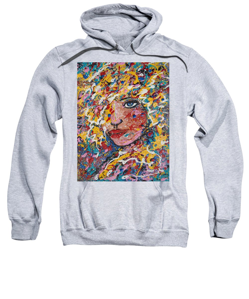 Woman Sweatshirt featuring the painting Kuziana by Natalie Holland