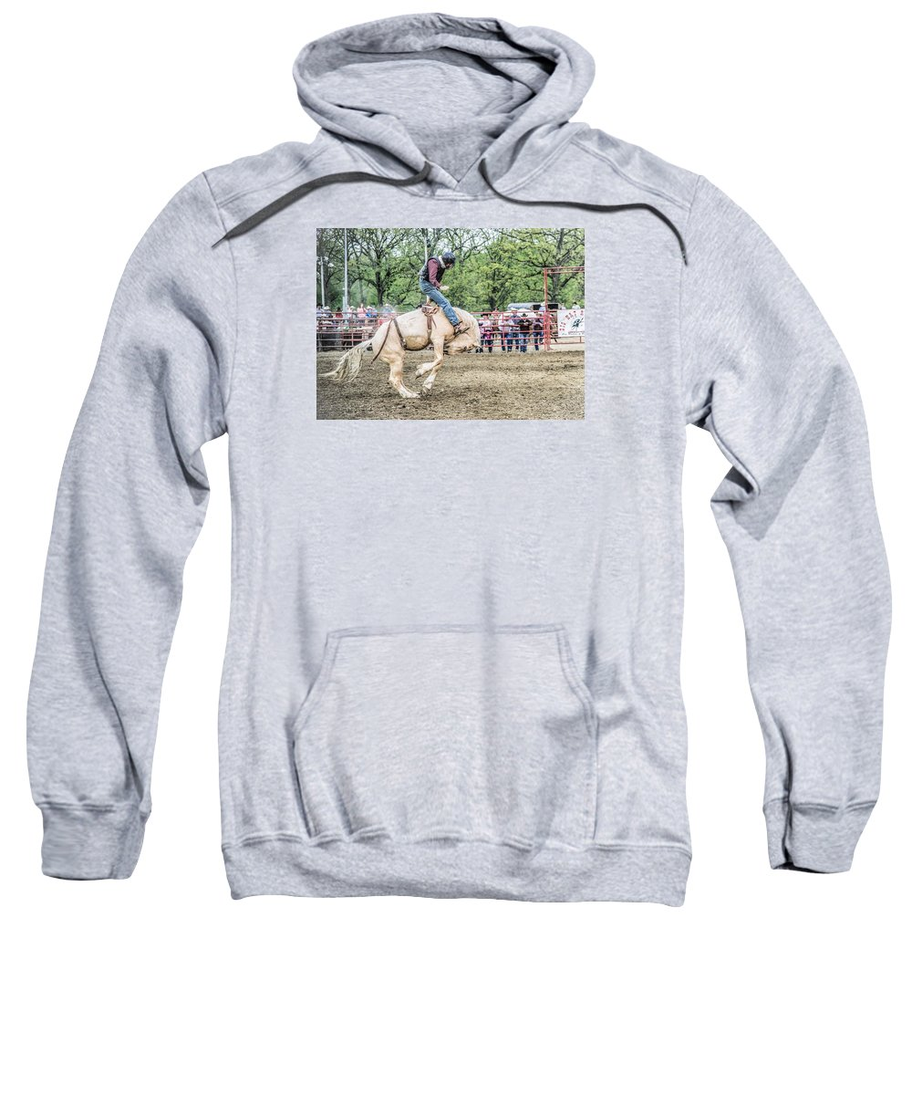 Orange & Blue Rodeo Sweatshirt featuring the photograph L by Terry Brown