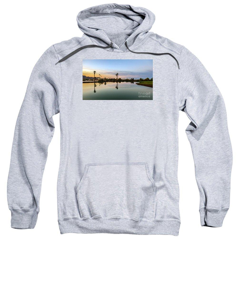 Sunset Sweatshirt featuring the photograph La Barrancas Golf Course by Robert Bales