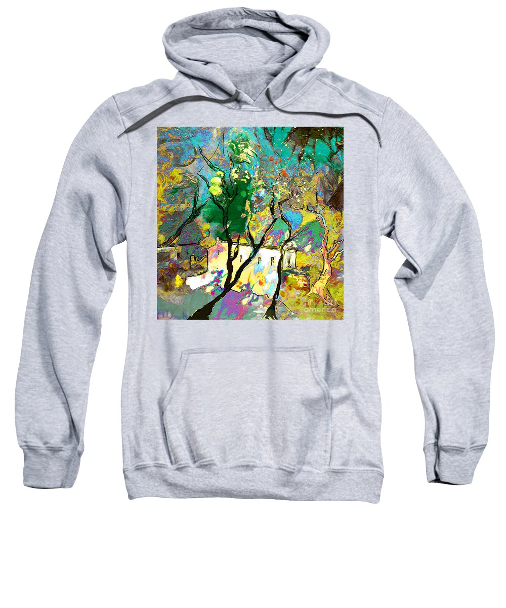 Miki Sweatshirt featuring the painting La Provence 16 by Miki De Goodaboom