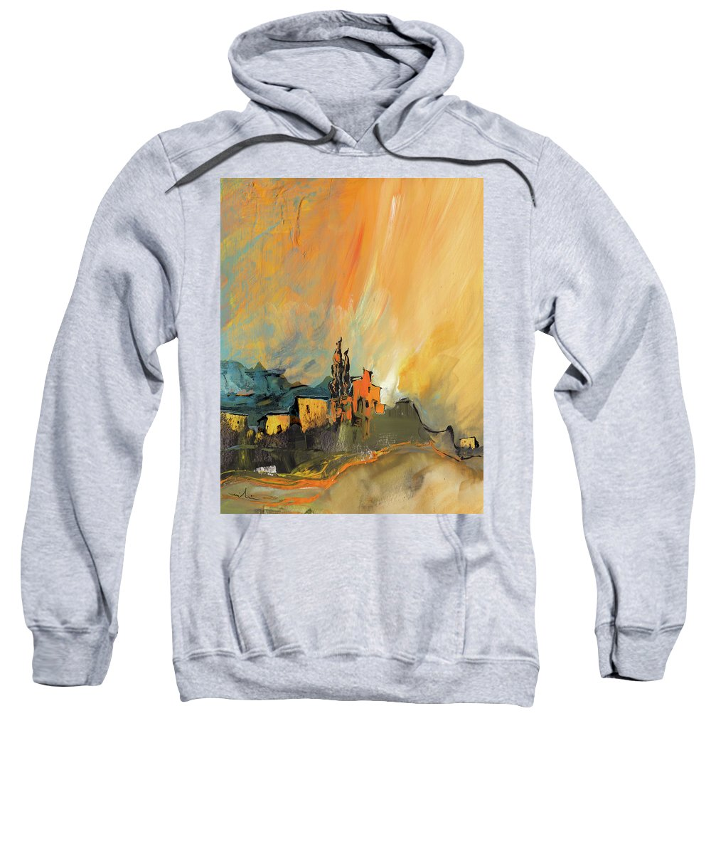 Landscapes Sweatshirt featuring the painting La Provence 25 by Miki De Goodaboom
