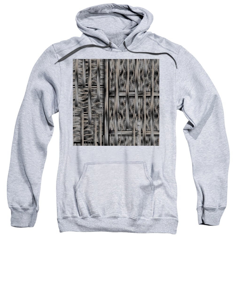 Landscape Sweatshirt featuring the mixed media Lace Landscape Abstract Shimmering Lovely In The Dark by Pepita Selles