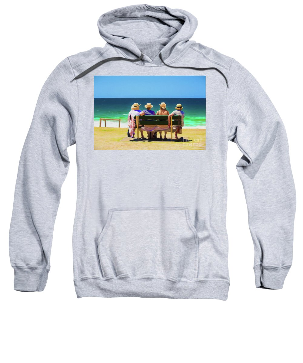 Ladies In Hats Sweatshirt featuring the photograph Ladies day out by Sheila Smart Fine Art Photography
