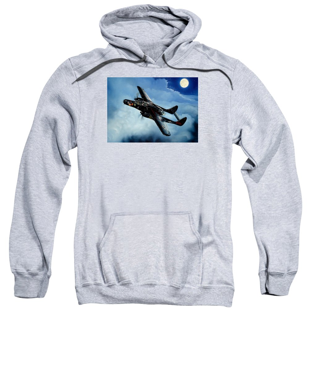 Military Sweatshirt featuring the painting Lady In The Dark by Marc Stewart