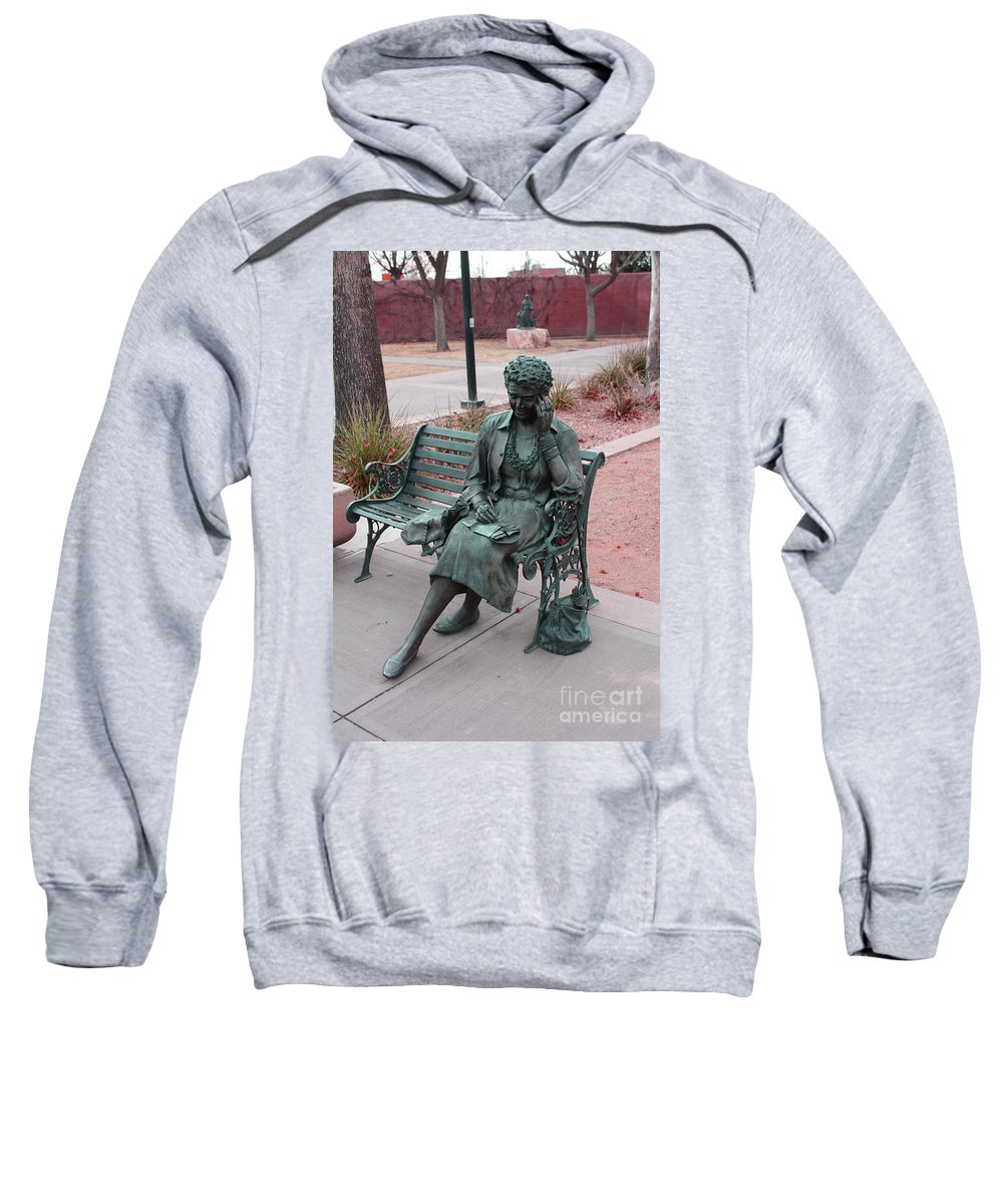 Lady Sweatshirt featuring the photograph Lady In The Park by Tommy Anderson