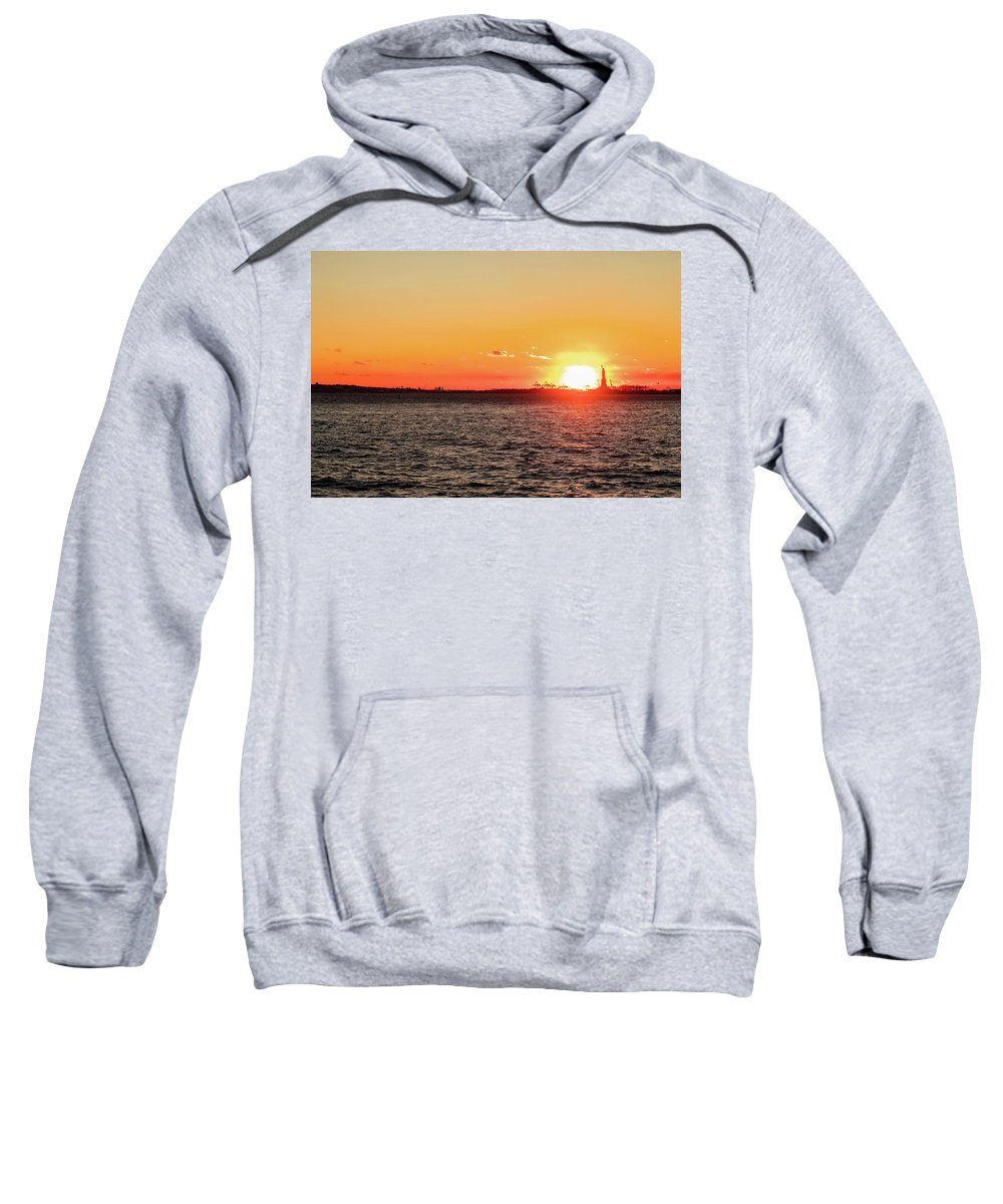 Nyc Sweatshirt featuring the photograph Lady Sunset by Frank Carlo Jr