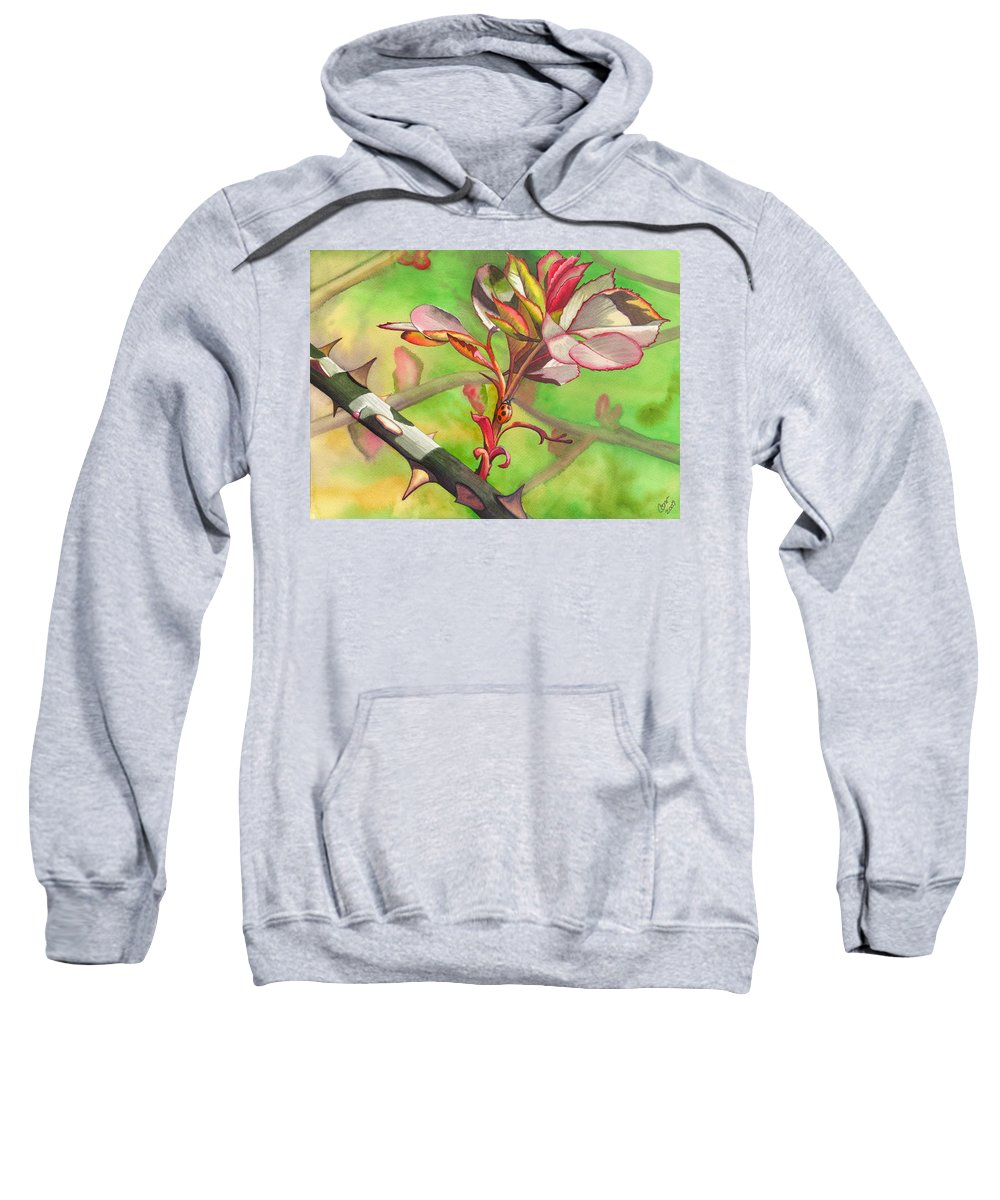 Ladybug Sweatshirt featuring the painting Ladybug by Catherine G McElroy