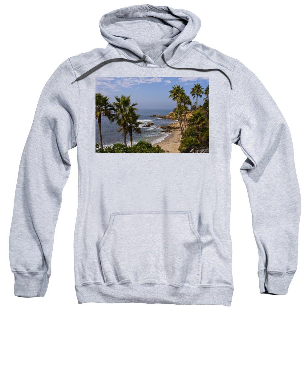 Laguna Sweatshirt featuring the photograph Laguna Beach Coastline by Lou Ford