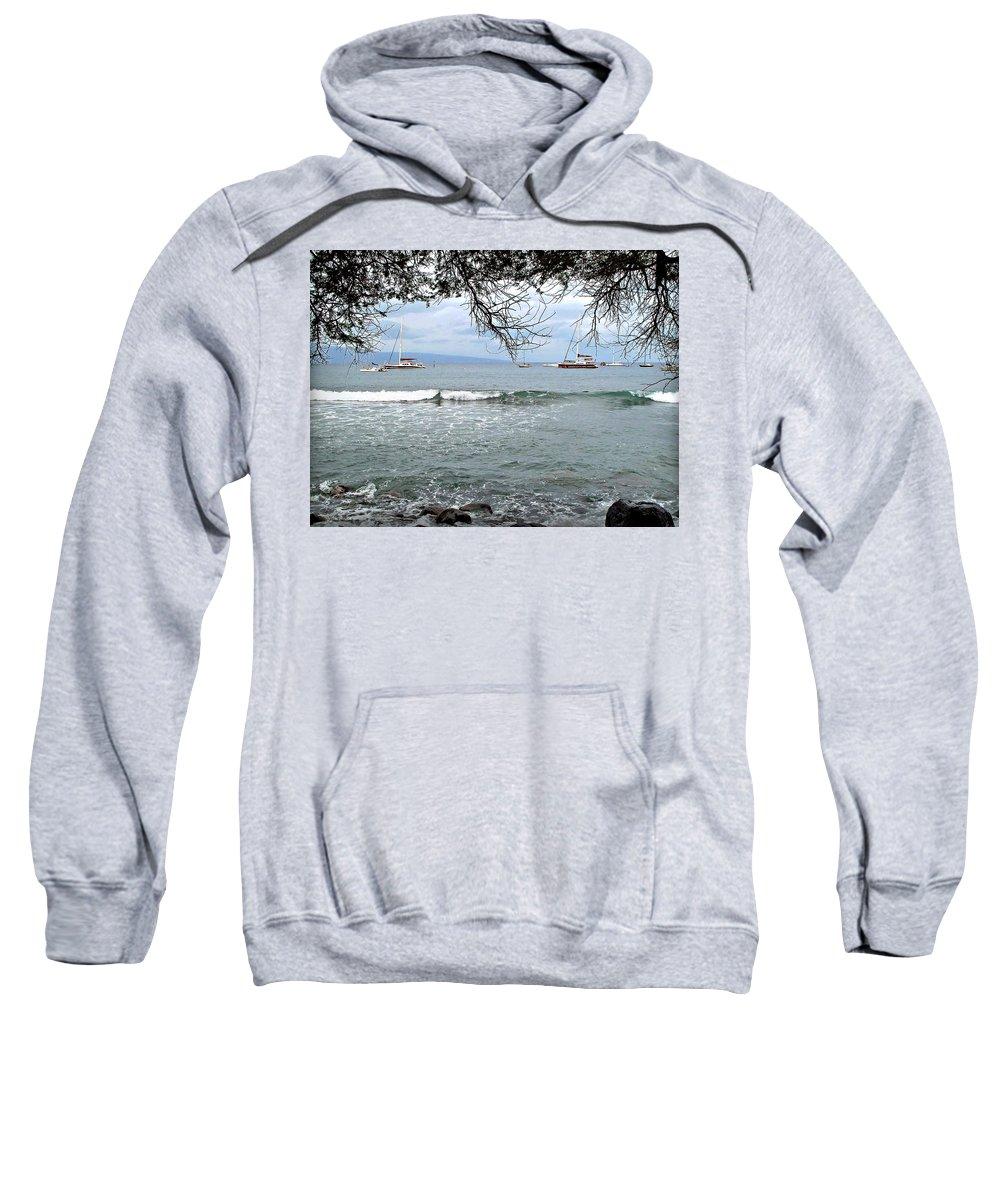 Lahaina Sweatshirt featuring the photograph Lahaina Beach by Joan Minchak