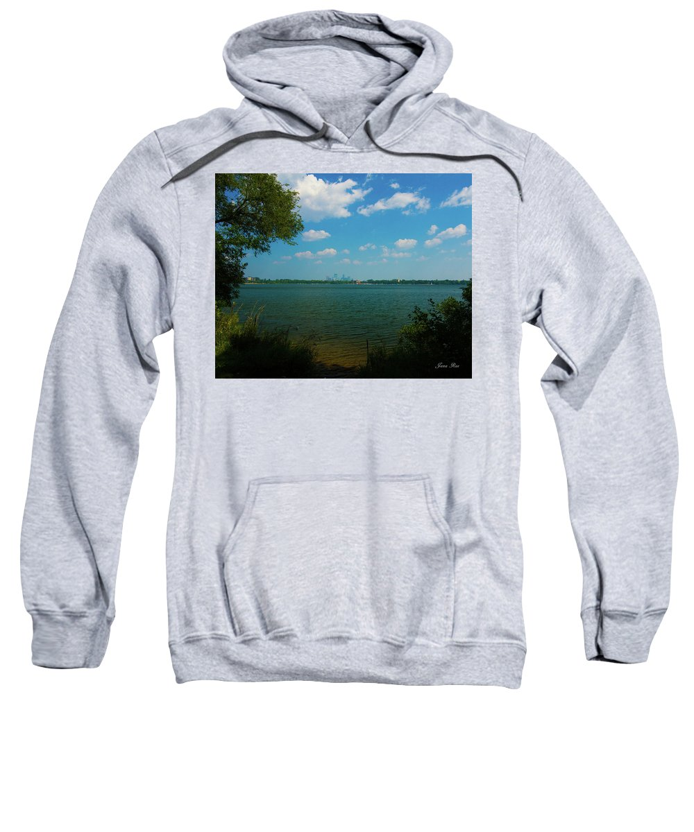 Lake Calhoun Sweatshirt featuring the photograph Lake Calhoun 3796 by Jana Rosenkranz
