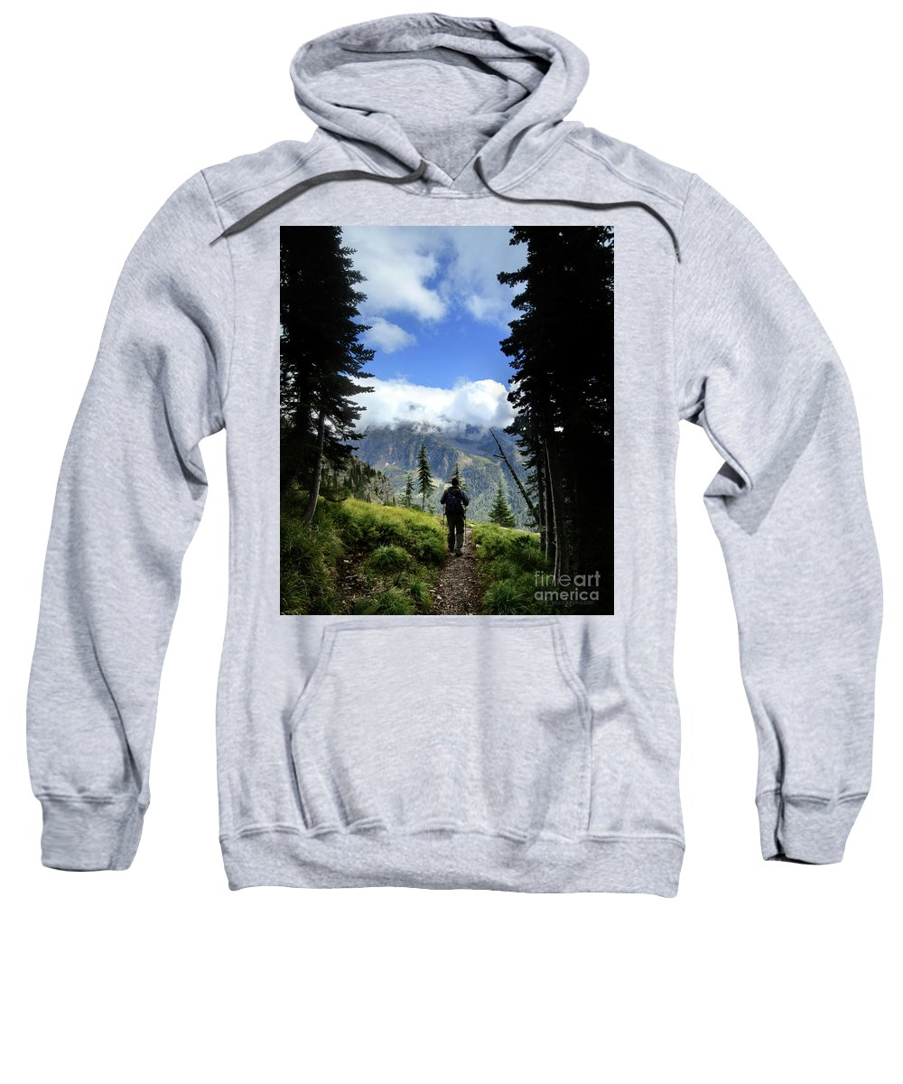 Montana Sweatshirt featuring the photograph Lake Mcdonald From Mt Brown - Glacier National Park by Bruce Lemons