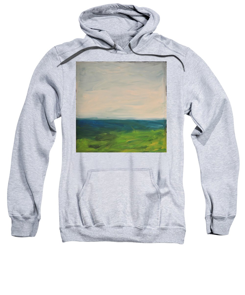 Lake Sweatshirt featuring the painting Lake Michigan by Tim Nyberg